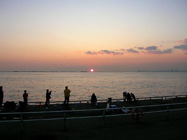 大きな夕日