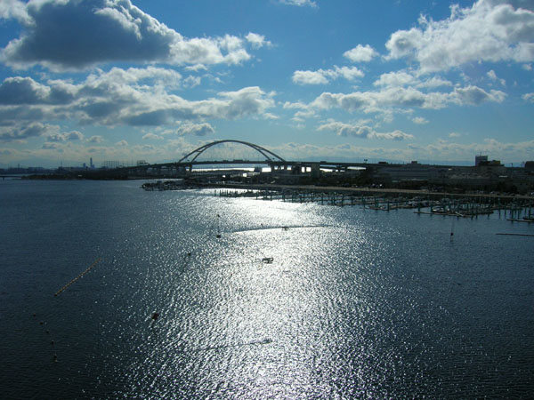 西宮大橋からの景色